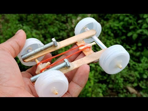 How to Make a mini Rubber band Car