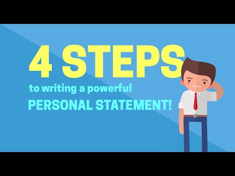 How To Write A POWERFUL Personal Statement