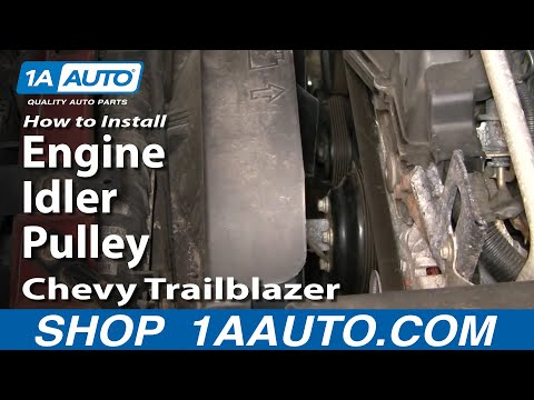 How To Install Replace Engine Idler Pulley Chevy Trailblazer 1AAuto.com