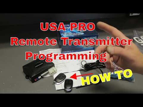 How to On USA PRO Remote Transmitter Programming