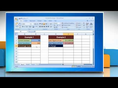 Microsoft® Excel 2007: How to Calculate Percentages in Excel