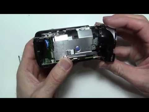 How to open and take apart Canon VIXIA - for fix repair HF R400 R500 R52 R50