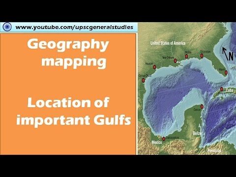 Geography mapping: Location of Important gulfs (Google Maps)