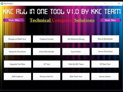 All Android Mobile Latest Flashing Tool Pack In One Setup No Need