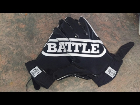 Battle Wide  Receiver Gloves Unboxing and Review
