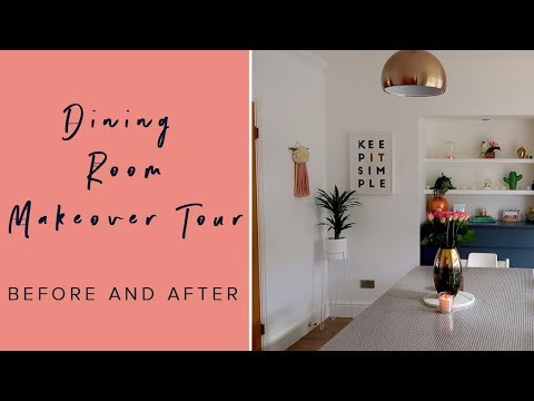 DINING ROOM MAKEOVER TOUR - BEFORE AND AFTER