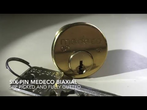 Six Pin Medeco Biaxial - Picked and Gutted