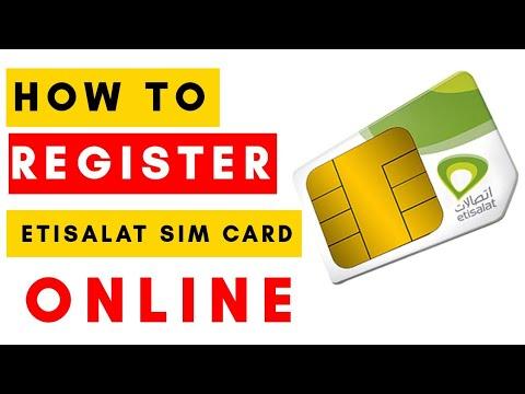 How to renew Etisalat Sim Card Registration online :tutorial