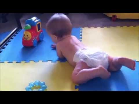 Baby Learning to Belly Crawl