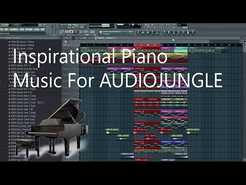 Audiojungle/ How to Make Inspirational Piano Music For Audiojungle, Fl Studio Tutorial