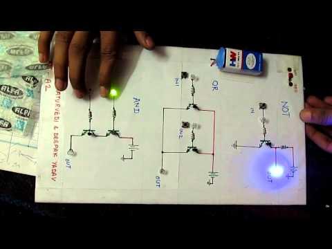 Logic gate project using transistors.