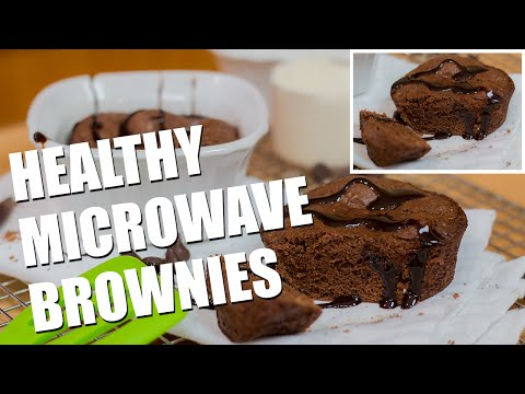 Healthy Microwave EGGLESS Brownies Recipe