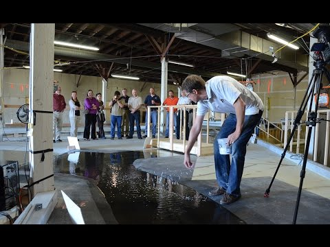 Maple River aqueduct model and open house