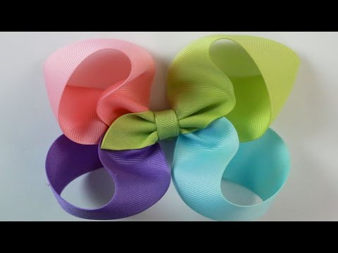 How to: Easy bow tutorial 4 color Twisted Boutique hairbow