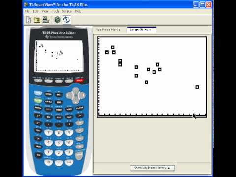 Scatter Plots, Regression on the TI-83+ TI-84+