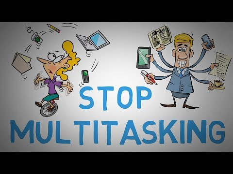 STOP MULTITASKING NOW - Why It's NOT Efficient to Multitask (animated)