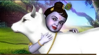 Tharangam Tharangam 3D Animation  Rhymes - Krishna Songs