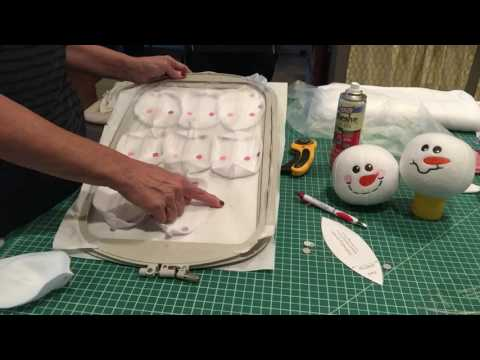 Snowman Snowballs how to video