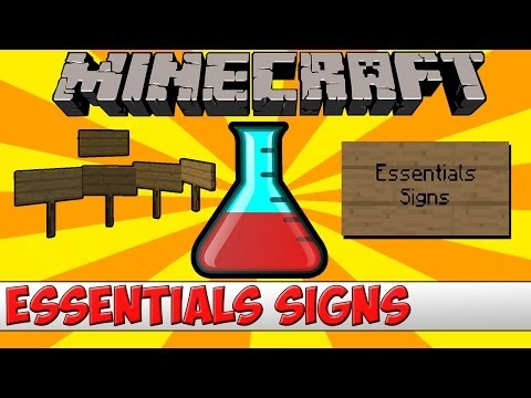 Minecraft Bukkit Plugin - Essentials Signs (Buy, Sell, etc) - Tutorial