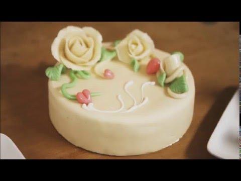 Marzipan Ruffle Cake - Baking & Decorating
