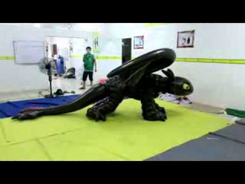 Inflatable costume / double layers pvc toothless suit