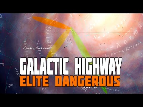Elite Dangerous - Galactic Superhighway - High Speed Travel (200+ Ly Jumps)