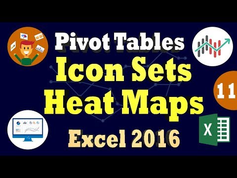Excel 2016 PivotTables Tutorial: Conditional Formatting Using Icon Sets & Heat Maps