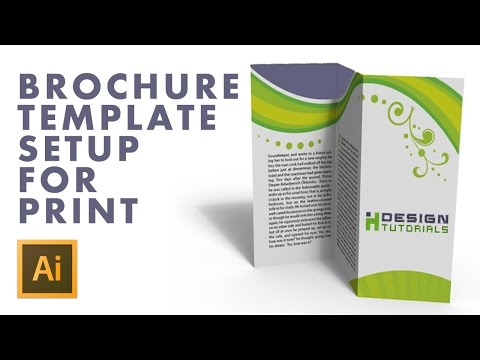 Brochure Template setup for print in Adobe illustrator