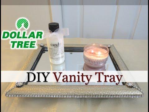 Dollar Tree DIY Mirrored Vanity Tray -Easy  -$6 - Mother's Day Gift Idea