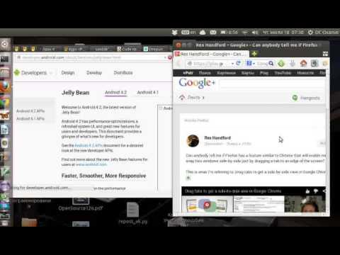 Firefox in Ubuntu. Tabs and windows.