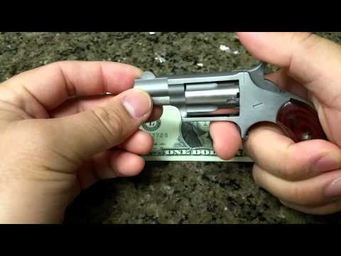 North American Arms 22LR Mini Revolver & Skeleton Belt Buckle