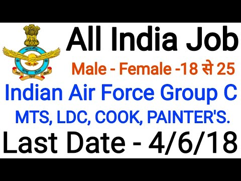 Indian Air Force Recruitment 2018: 79 Group 'C' Civilian Posts, Apply Before 4th June 2018