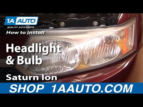 How To Install Replace Headlight and Bulb Saturn Ion 03-07 Sedan 1AAuto.com