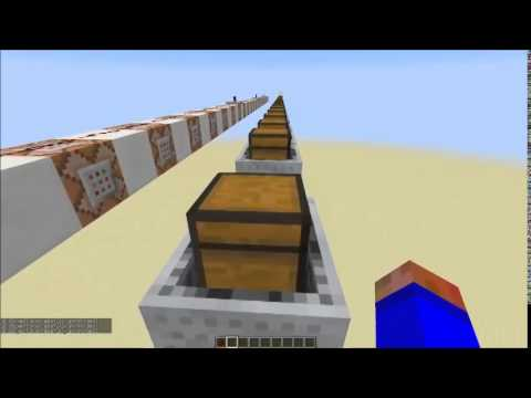Minecraft Tutorial: Splitting up merged minecarts