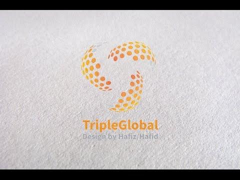 Adobe Illustrator CC Tutorial - How to Create Cool Logo Design - Circle Logo Design