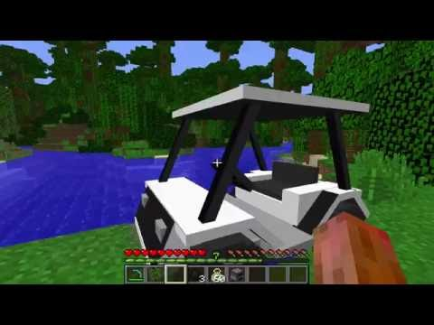 Real Golf Cart in Minecraft with No Mods in Single Player!