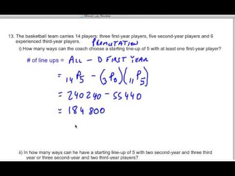 Permutations and Combinations 5