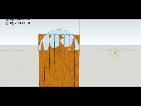 How To Make Three Different Types of Curved Designs for Top of Wood Fence Gate