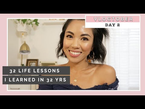 32 Life Lessons I Learned At 32 Years | VLOGTOBER DAY 2