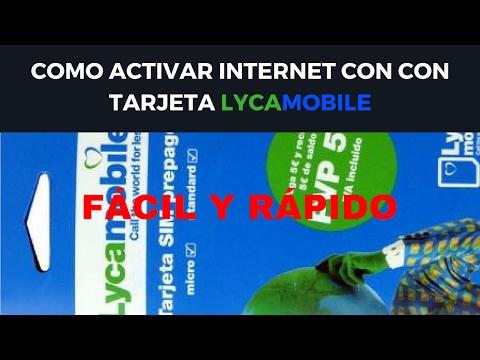 Activar internet Lycamobile