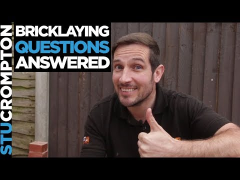 Bricklaying susbcriber questions answered