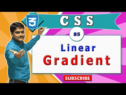CSS Video Tutorial 85 - CSS Linear Gradient