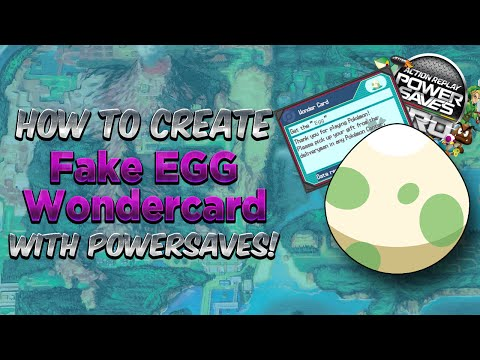 How to Use Fake Egg Wondercard Code Powersaves Tutorial Guide Pokemon Omega Ruby & Alpha Sapphire!