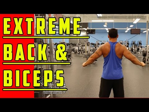Back & Biceps Cable Workout