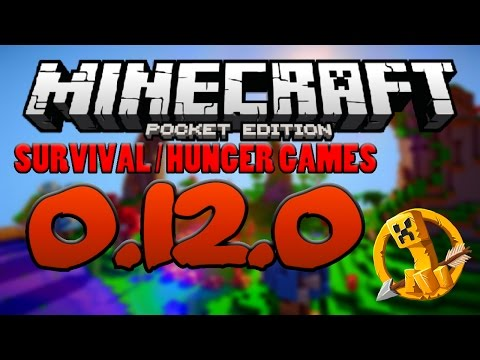 0.12.0 MCPE SURVIVAL / HUNGER GAMES SERVER GAMEPLAY - Minecraft PE (Pocket Edition)