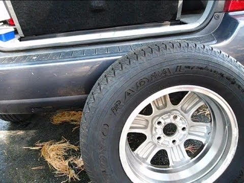 How To Remove The Spare Tire On The Toyota Highlander