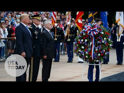 President Donald Trump participates in Memorial Day ceremony: President Donald Trump is honoring ...