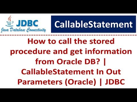 JDBC - CallableStatement In Out Parameters (Oracle)