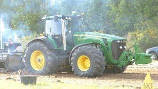 John Deere 7710, 7830, 7920, 8270R, & 8530 Pulling The Slegde in Lyngså | Tractor Pulling Denmark