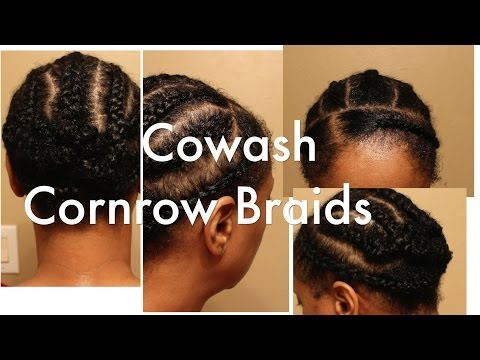 How I Co-Wash | Cornrow Braid My Natural Hair Tutorial | Protective Style